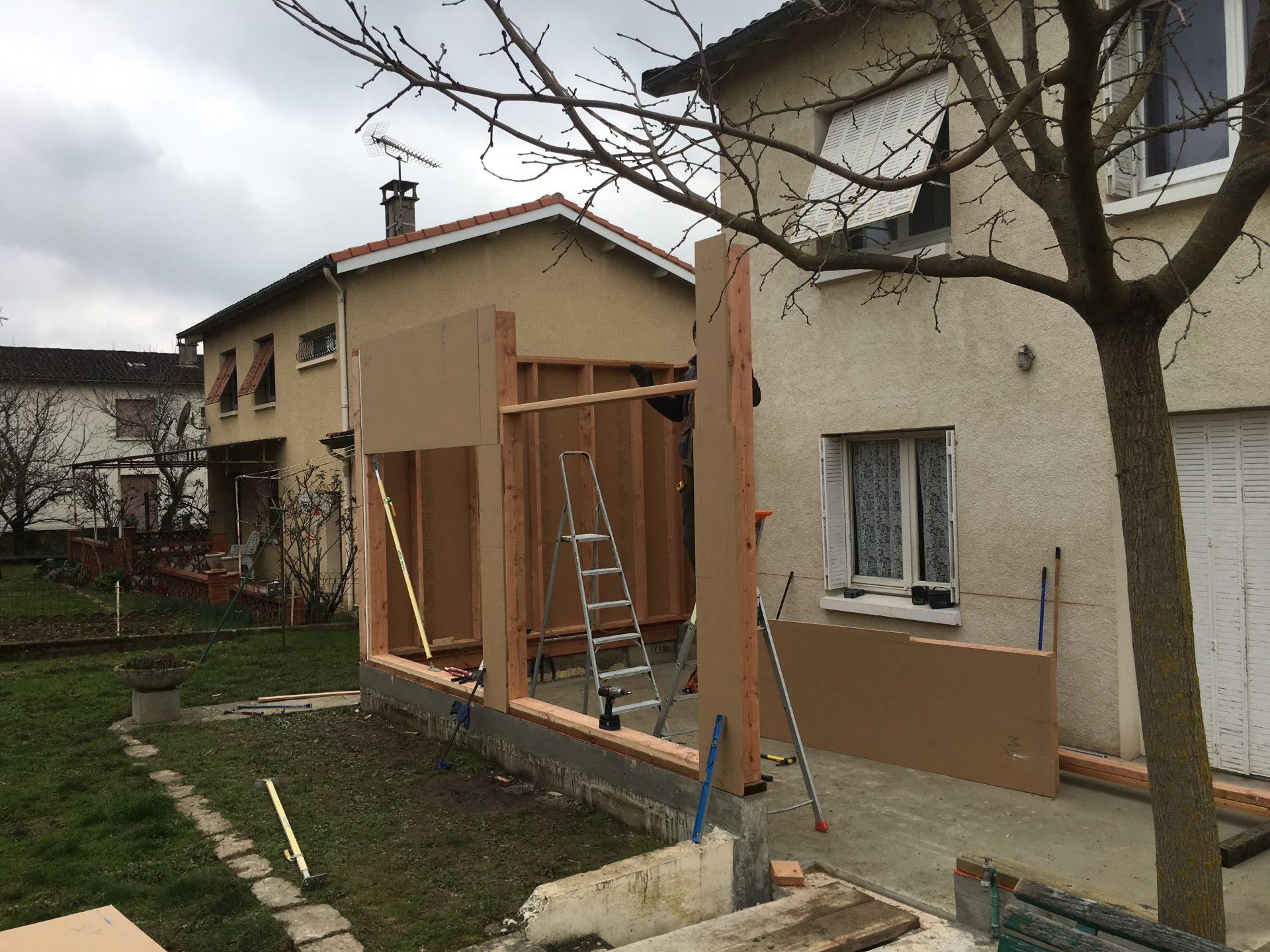 Extension maison de ville à Albi, Charpente